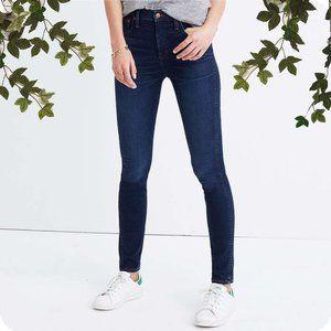 Zara Trafaluc Dark Wash Mid-Rise Skinny Jeans, 6